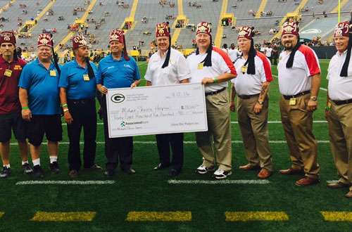 green bay packers donate money for tripoli