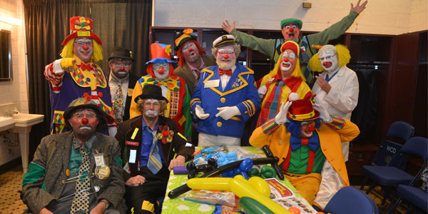 clowns unit for parades and circus